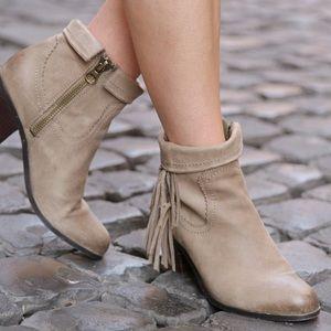 Sam Edelman Louie Yeehaw Fringe Western Boots 7.5